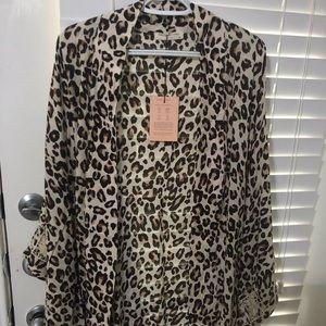 Spell Bohdi Leopard Short Robe